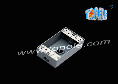 Cina Die-cast aluminium Weatherproof box 3 Holes / 5 Lubang Tunggal Gang Outlet box Die Cast Logam pabrik