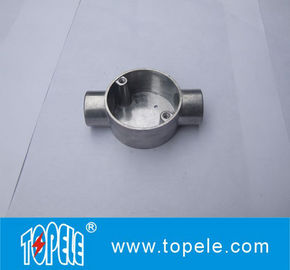 TOPELE 20mm / 25mm BS4568 / BS31 listrik Two Way melingkar sudut aluminium Junction Box, tinggi broadband