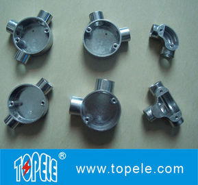 TOPELE BS Two Way Melalui Edaran lunak Aluminium Junction Box, Galvanized Listrik Conduit Fittings