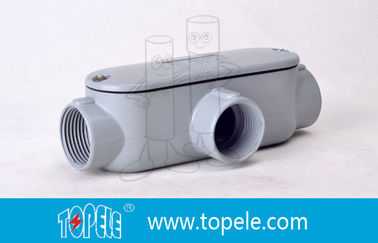 Indoor / Outdoor T Tipe 4 Inch tubuh Conduit Rigid Threaded Aluminium